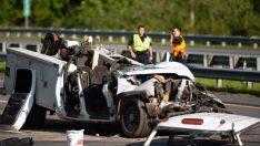 Geçen yıl 3 bin 218 kişi trafik kazalarında yaşamını yitirdi