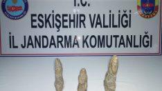 Eskişehir'de Roma Dönemi'ne ait heykeller ele geçirildi