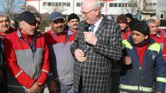 Başkan Kazım Kurt işçilerle buluştu