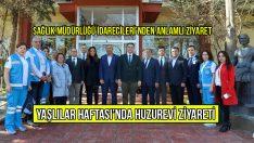 Eskişehir Sağlık Müdürlüğü İdarecilerinden Huzurevi'ne Anlamlı Ziyaret