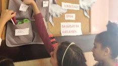 """Köy okulundan örnek proje """"Askıda kırtasiye"""""""