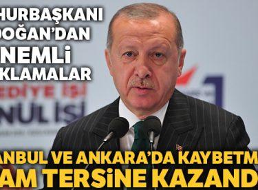 Cumhurbaşkanı Erdoğan: 'İstanbul ve Ankara'da kaybetmedik'