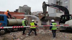 Can ve mal güvenliği için metruk binalar yıkılıyor