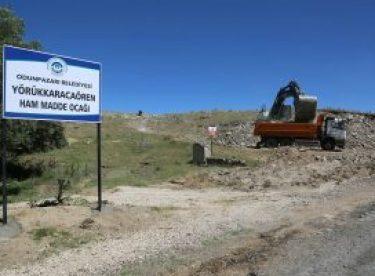 Odunpazarı Belediyesi hammadde ocağı açtı