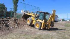 İnönü Belediyesi'nden spor tesislerinde altyapı ve çevre düzenlemesi