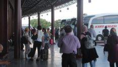 Eskişehir Otobüs Terminalinde bayram hareketliliği