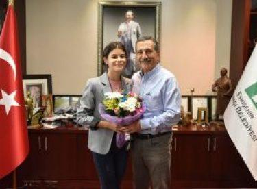 Başarılı öğrenciden Başkan Ataç'a ziyaret