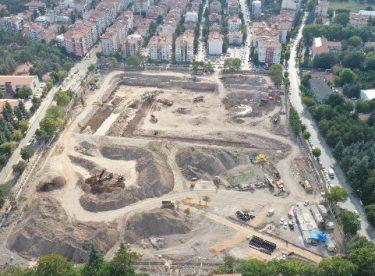 Eskişehir'in Millet Bahçesi yapımına hızla devam ediliyor