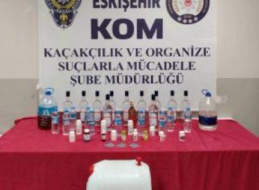 Litrelerce kaçak alkol üreten şüpheli yakalandı
