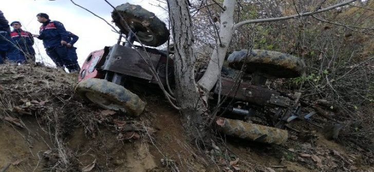 Pazarlar'da traktör kazası: 1 yaralı