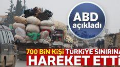 """ABD: '700 bin kişi Türkiye sınırına hareket etti"""""""
