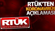 RTÜK Başkanı Şahin'den korona virüs açıklaması
