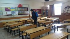 Eskişehir'de okullar koronaya karşı dezenfekte yapıldı