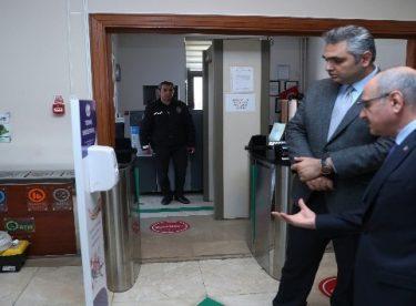 Eskişehir Valiliği'nde Kovid-19'a karşı termal kameralı önlem