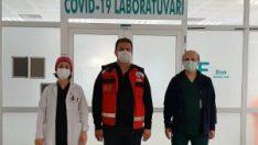 Eskişehir İl Sağlık Müdürü Prof. Dr. Uğur Bilge koronavirüs hastalarını ziyaret etti