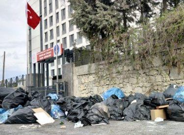 Karantina sonrası çöpler ortada kaldı