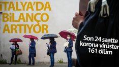 İtalya'da son 24 saatte korona virüsten 161 ölüm
