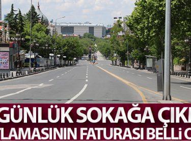 İçişleri Bakanlığı iki günlük sokağa çıkma kısıtlamasının bilançosunu yayımladı