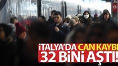 İtalya'da son 24 saatte korona virüsten 156 ölüm