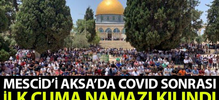 Mescid-i Aksa'da ilk cuma namazı kılındı