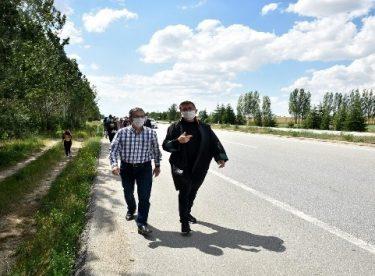 Başkan Ataç'tan savunma yürüyüşüne destek