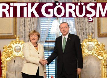 Cumhurbaşkanı Erdoğan, Şansölye Merkel ile görüştü