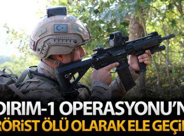 Yıldırım-1 Operasyonu'nda toplam 8 terörist ölü olarak ele geçirildi