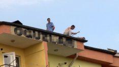 8 katlı binanın çatısında şaşırtan rahatlık