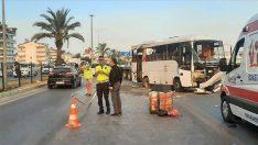 Antalya'da tur midibüsünün devrildi