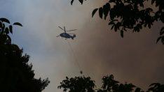 Gündoğmuş'taki orman yangını sürüyor